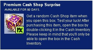 MapleStory Events - Introducing the Premium Cash Shop Surprise
