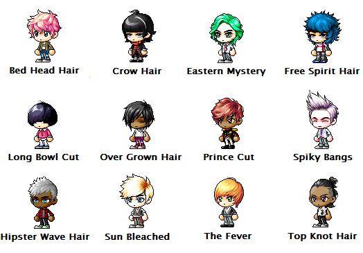 MapleStory Male Hairstyles