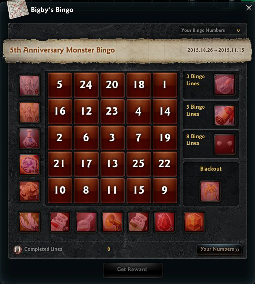 Steam community group announcements vindictus during the event specific monsters throughout vindictus will drop bingo numbers a different number each day and two numbers on saturday and sunday negle Images