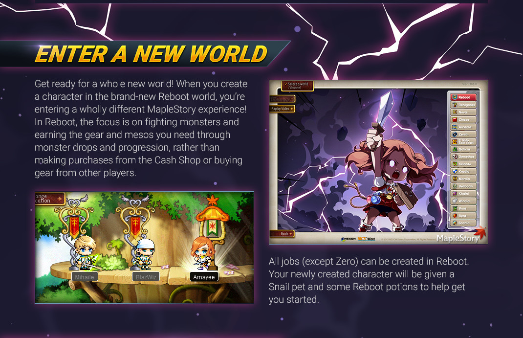 MapleStory: Reboot announced | NeoGAF