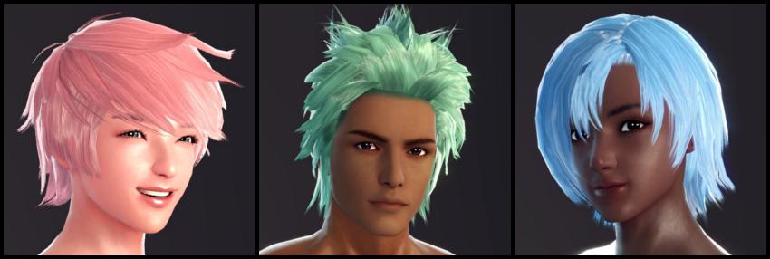 Halloween Event - Re-add the unique hair colours. - Vindictus