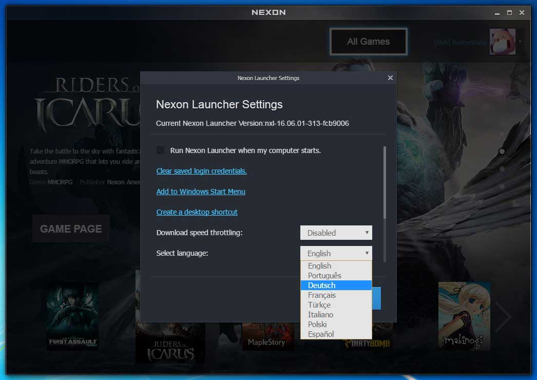 Riders of icarus mehrsprachiger support riders of icarus for Nexon client