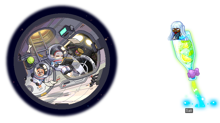 MapleStory September 2 Gachapon Chairs Space Life Experience Sparkling-ade Rocket Chair