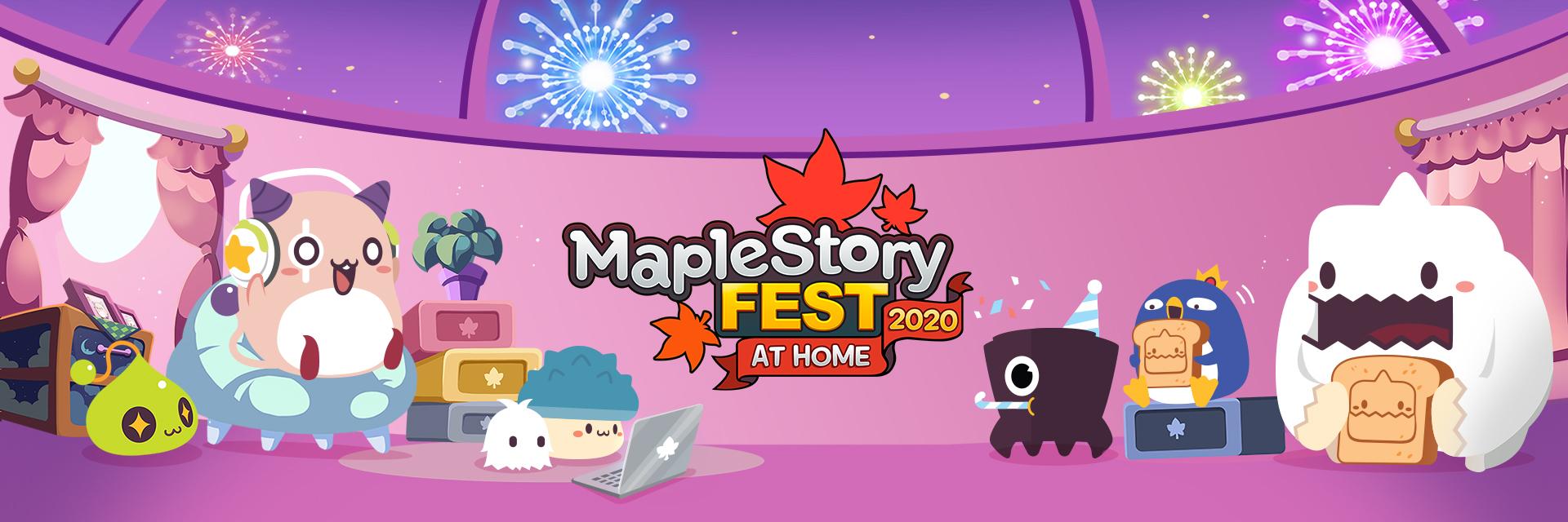 MapleStory Fest 2020 At Home Banner