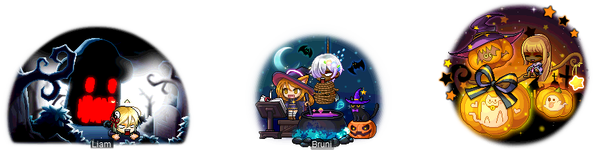 MapleStory September 2 Gachapon Chairs Maple Nightmare Chair Hallowkitty's Magic Cauldron Chair Halloween Night Chair