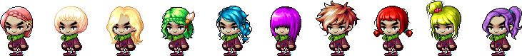 MapleStory October 21 Female Choice Hair