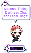 MapleStory Falling Darkness Chat Label Rings