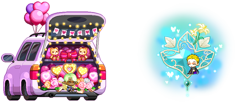 MapleStory November 4 Gachapon Chairs Couple's Special Proposal Chair Emerald Glass Chair
