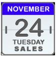 Black Friday Sales for Nov 24