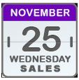 Black Friday Sales for Nov 25