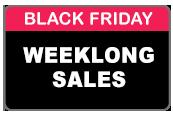 Weeklong Black Friday Sales