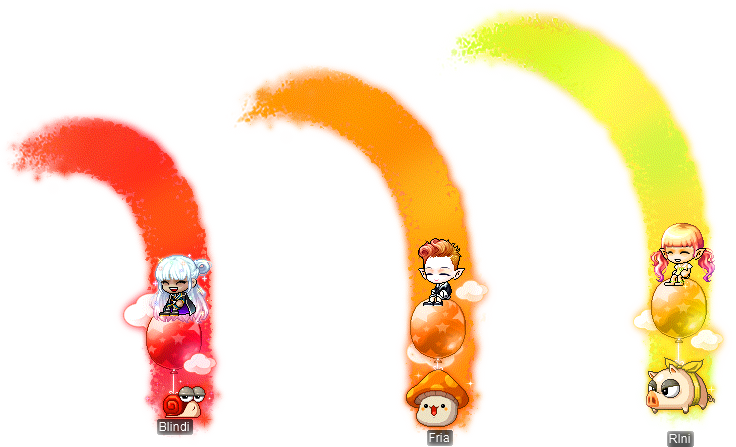 MapleStory December 2 Gachapon Chairs Red Maple Rainbow Chair Orange Maple Rainbow Chair Yellow Maple Rainbow Chair