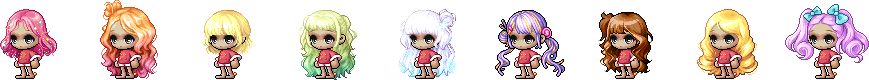 MapleStory December 23 Cash Shop Update Female Christmas Royal Hairstyles