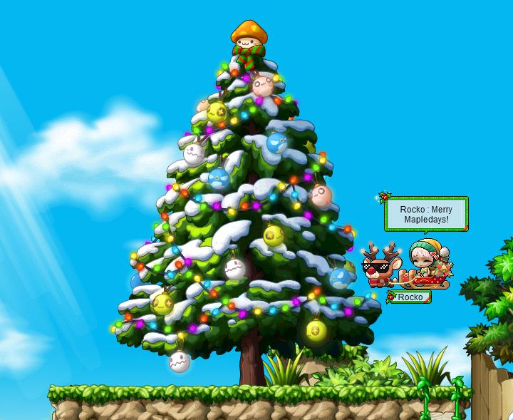 MapleStory Merry Mapledays Decorated Tree