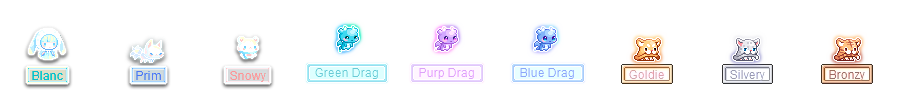 MapleStory December 30 Cash Shop Update Luna Crystal Pets Blanc Prim Snowy Green Drag Purp Drag Blue Drag Goldie Silvery Bronzy