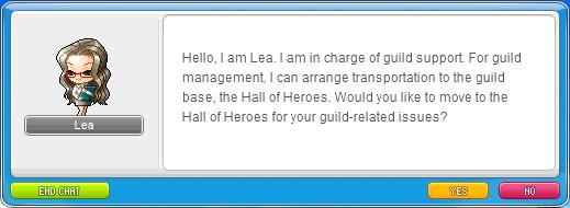 MapleStory Move to Guild Base via Lea