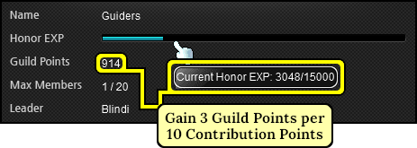 MapleStory Guild Contribution Points
