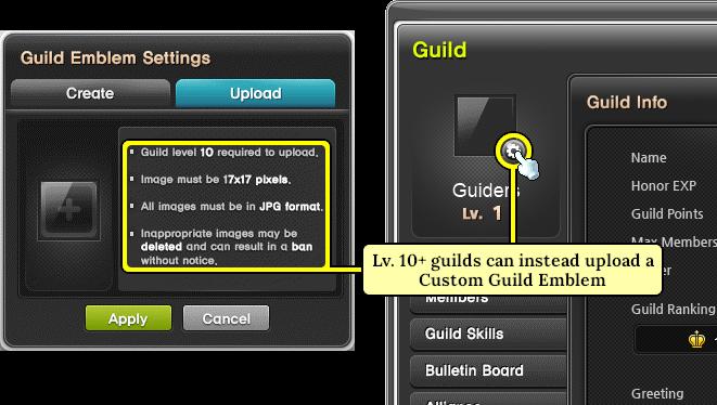 MapleStory Guild Emblem Upload