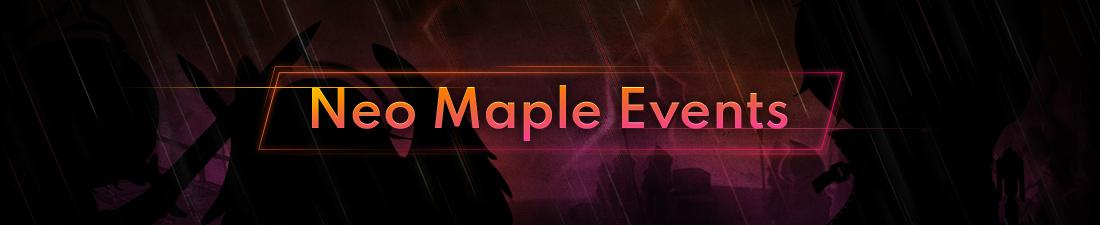 MapleStory Neo Maple Events