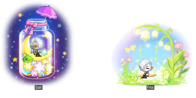 MapleStory June 2 Gachapon Chairs MapleStory Star and Moon Collection Chair Fresh Flower Swing Chair