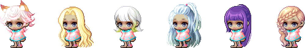 MapleStory July 21 Cash Shop Update Female Royal Hairstyles