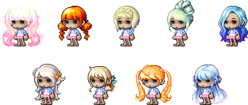 MapleStory August 4 Cash Shop Update Female All-Star Hairstyles