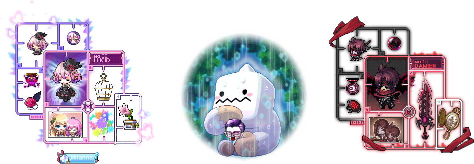 MapleStory August 4 Gachapon Chairs MapleStory Lucid Plastic Model Chair Reliable Friend Chair Damien Plastic Model Chair